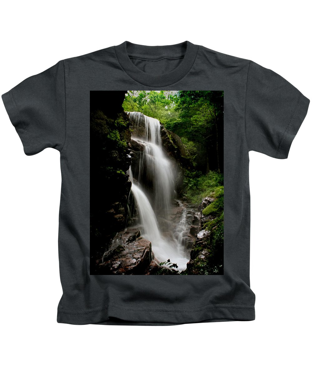 Avalanche Falls Kids T-Shirt featuring the photograph Avalanche Falls by Heather Applegate