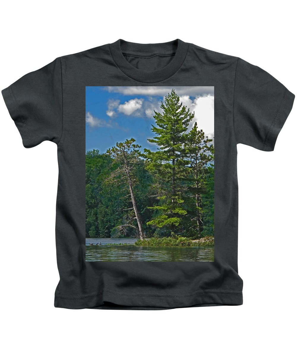 Manitoulin Kids T-Shirt featuring the photograph Away From It All by Ian MacDonald