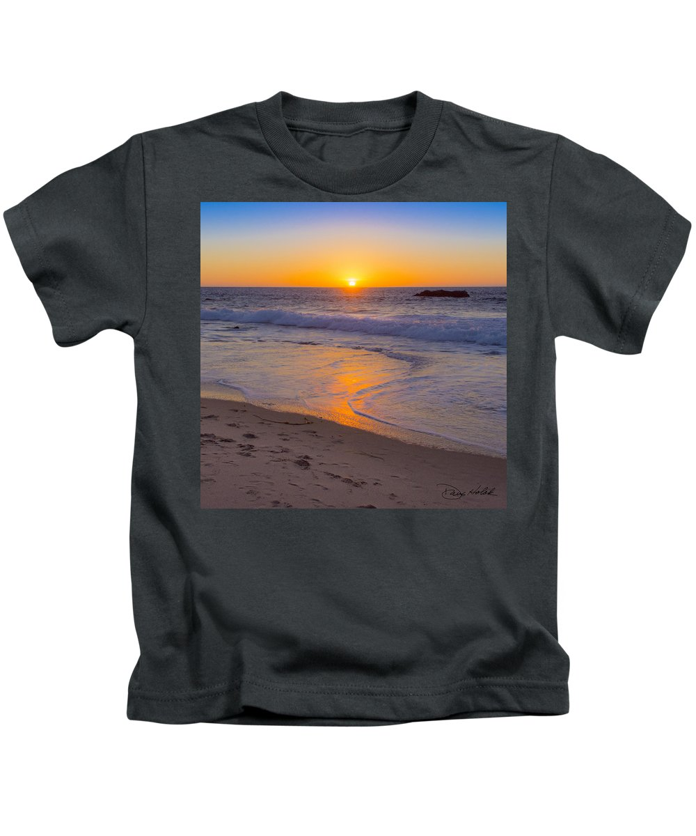 Big Sur Kids T-Shirt featuring the photograph Big Sur Sunset by Doug Holck