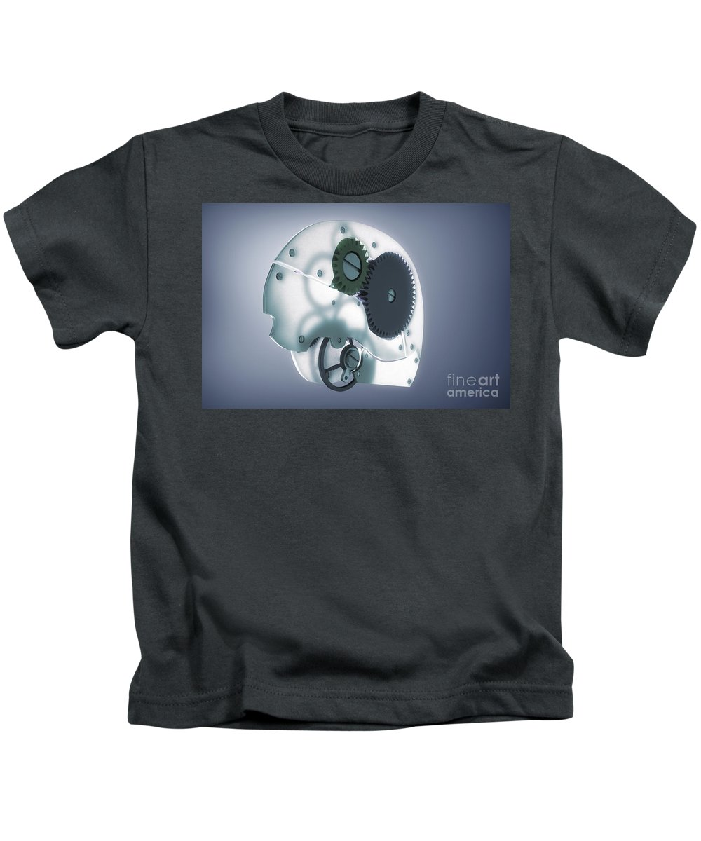 3d Visualisation Kids T-Shirt featuring the photograph Brain Mechanism by Science Picture Co