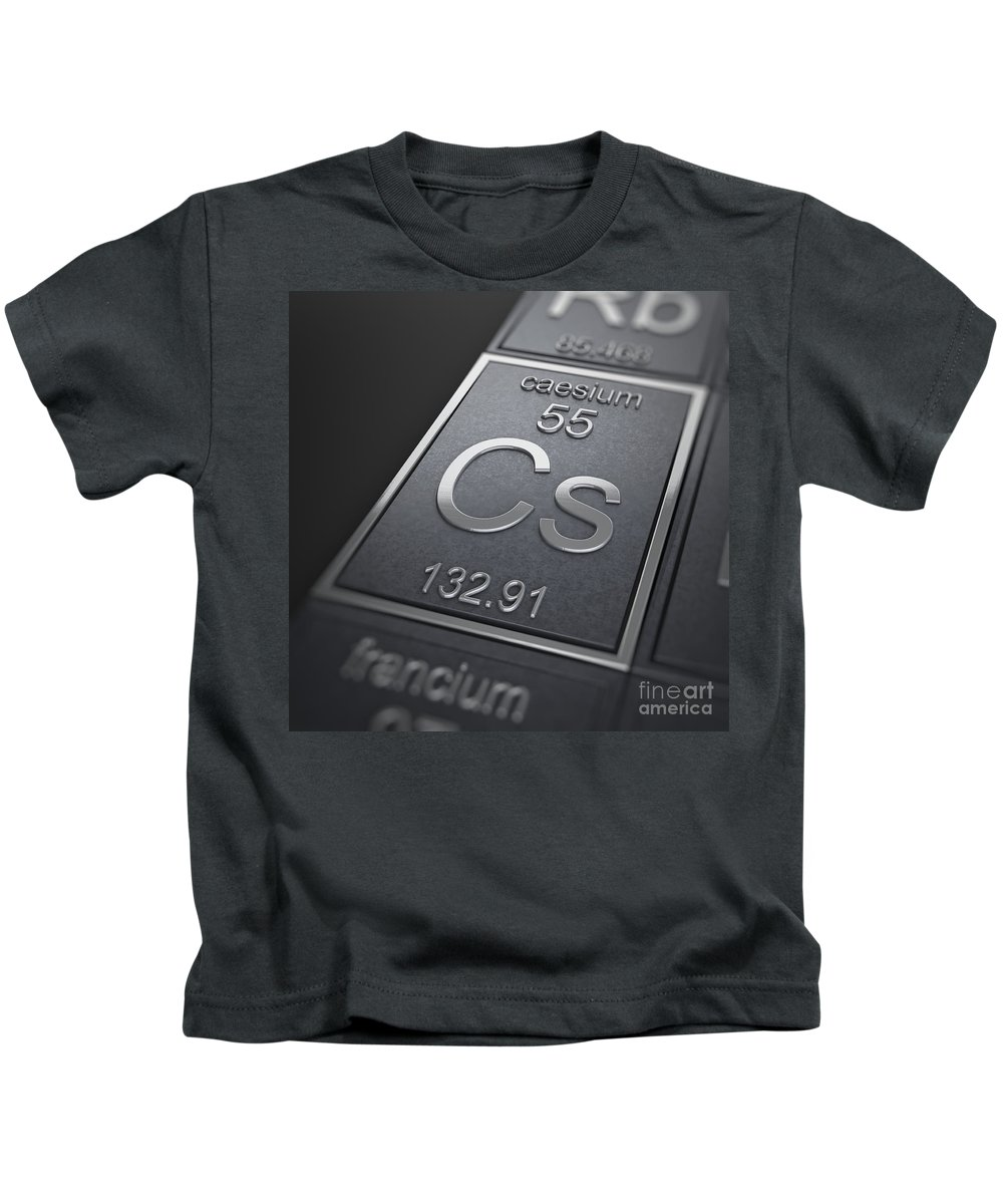 Caesium Kids T-Shirt featuring the photograph Caesium Chemical Element by Science Picture Co