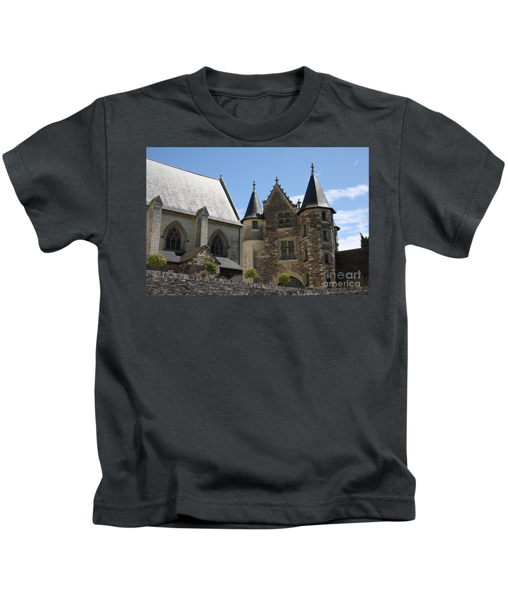 Castle Kids T-Shirt featuring the photograph Chateau D'angers by Christiane Schulze Art And Photography