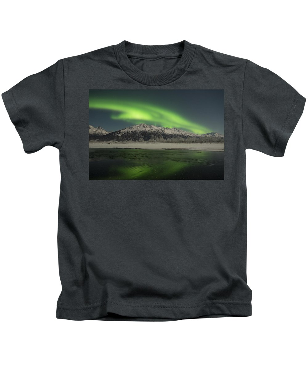 Aurora Kids T-Shirt featuring the photograph Emerald by Ted Raynor