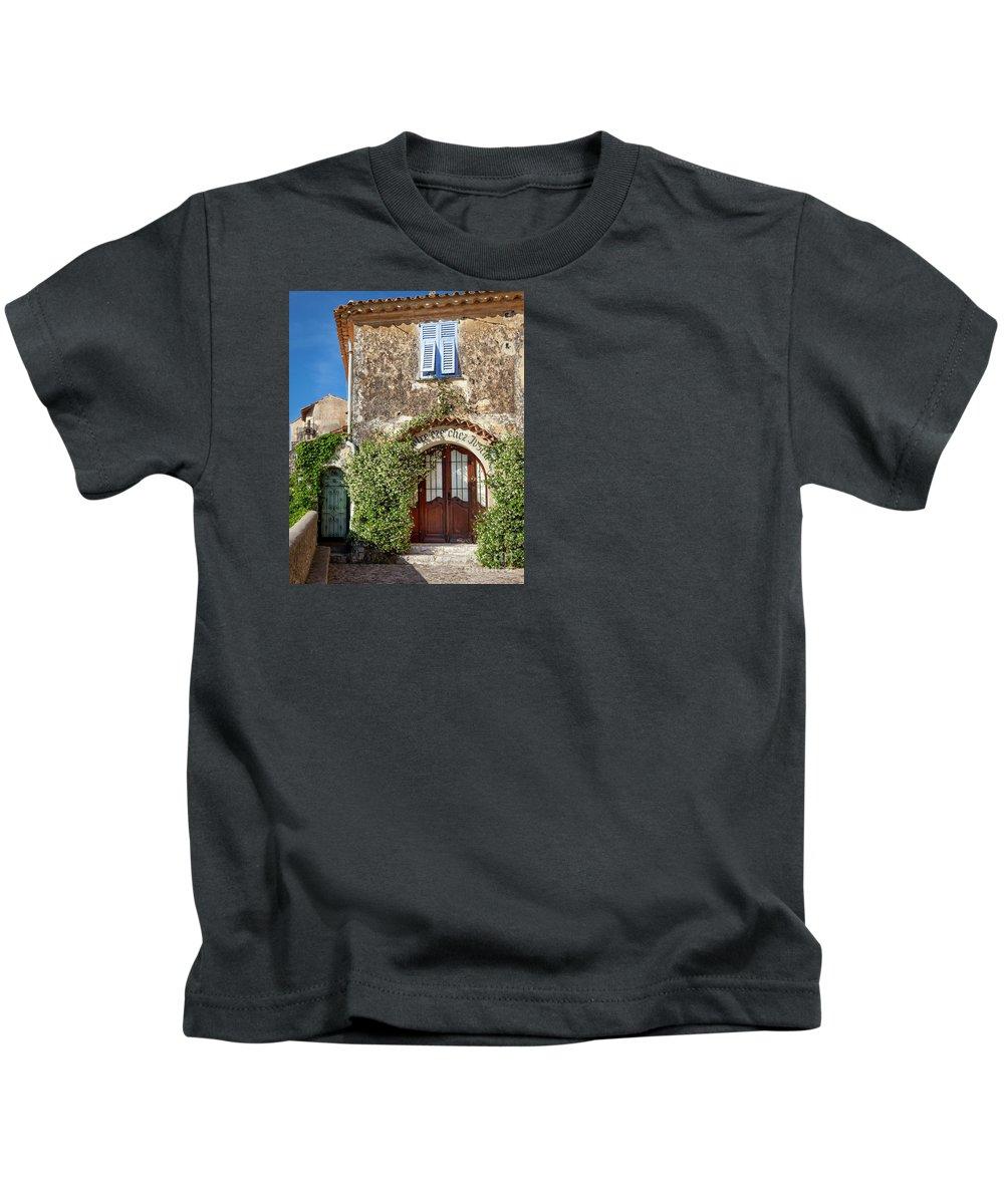 Alpes-maritimes Kids T-Shirt featuring the photograph Eze France by Brian Jannsen