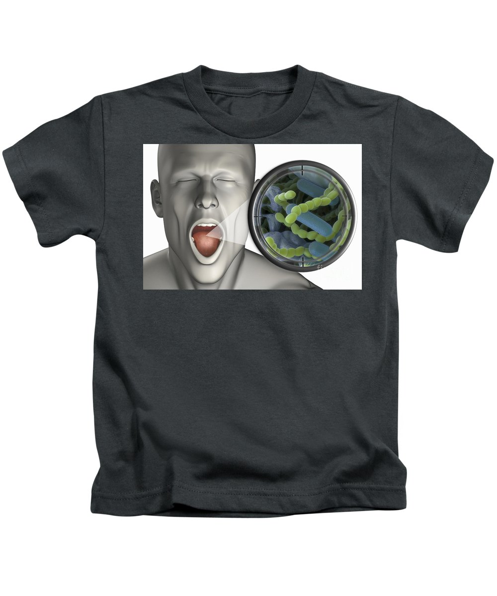 Bacterium Kids T-Shirt featuring the photograph Halitosis by Science Picture Co