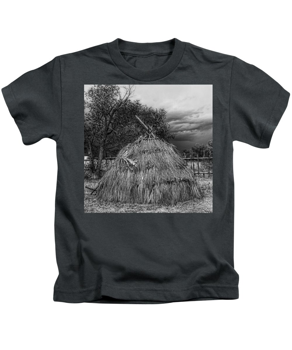 Fort Kids T-Shirt featuring the photograph Hogan Fort Apache by Hugh Smith