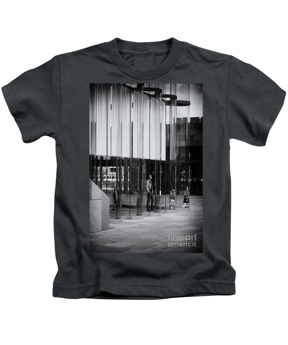 Inside View Kids T-Shirt featuring the photograph In The Glasshouse by Brothers Beerens