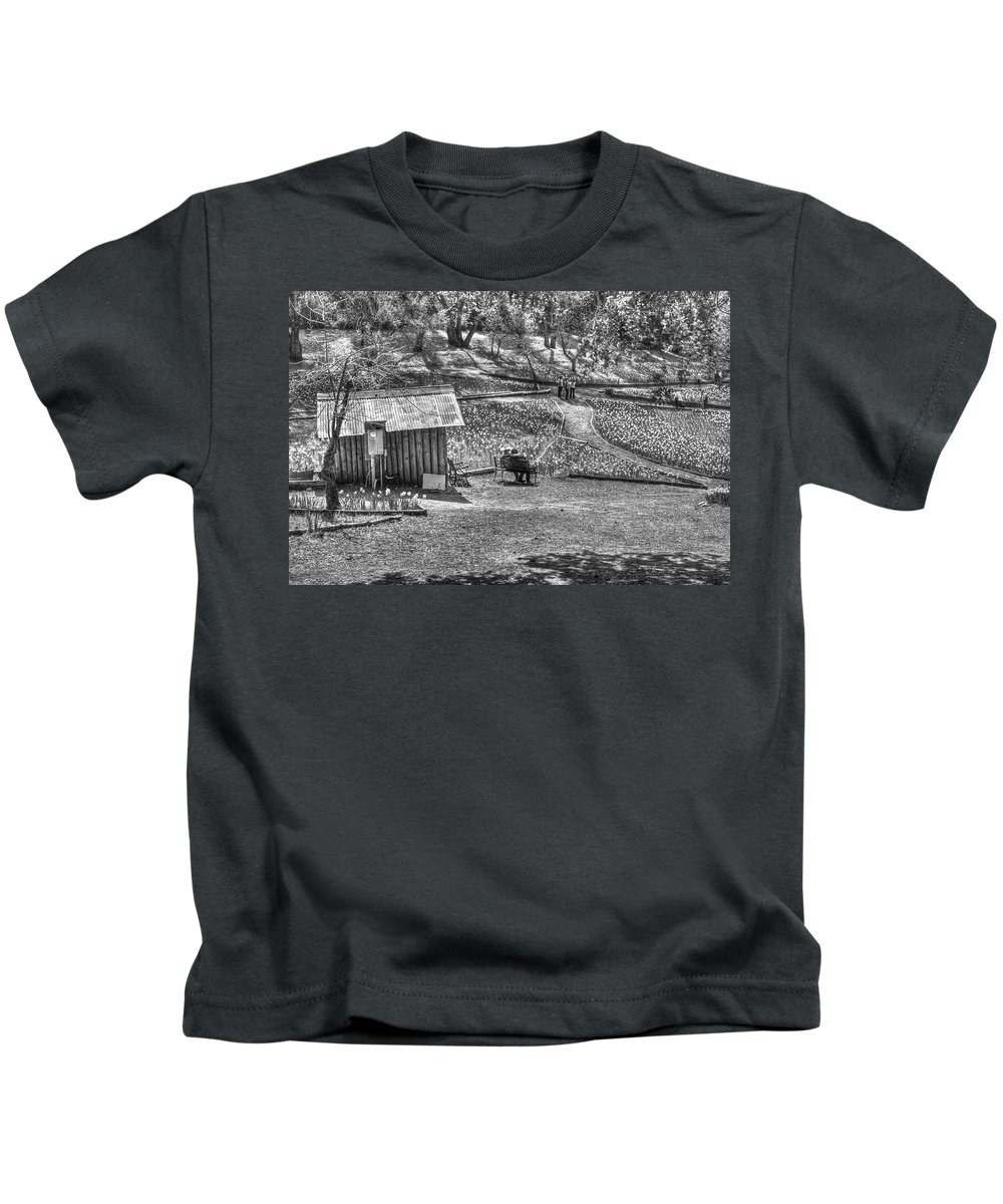 Amador Kids T-Shirt featuring the photograph Lovers On Daffodil Hill 2 by SC Heffner
