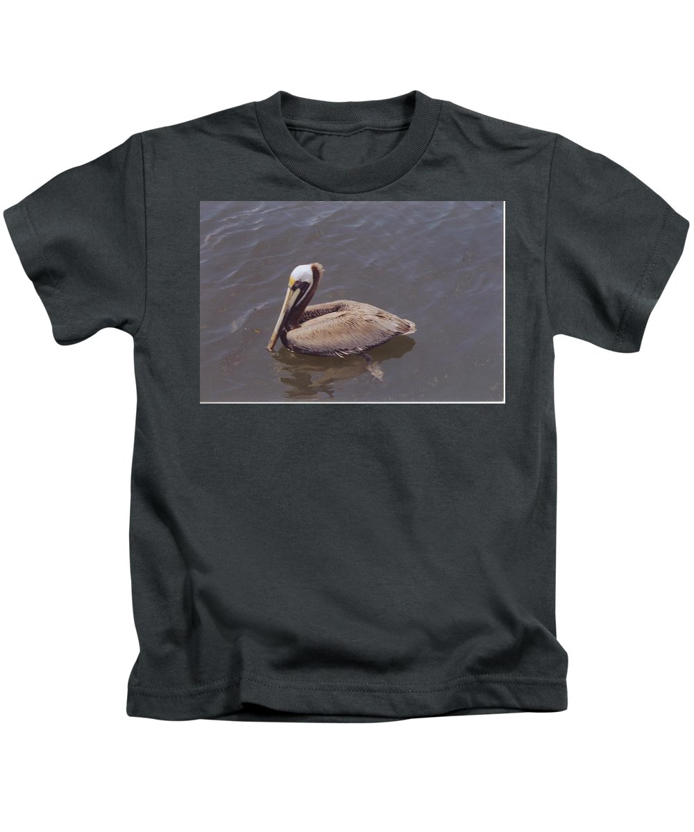 Matlacha Kids T-Shirt featuring the photograph Male Pelican by Robert Floyd