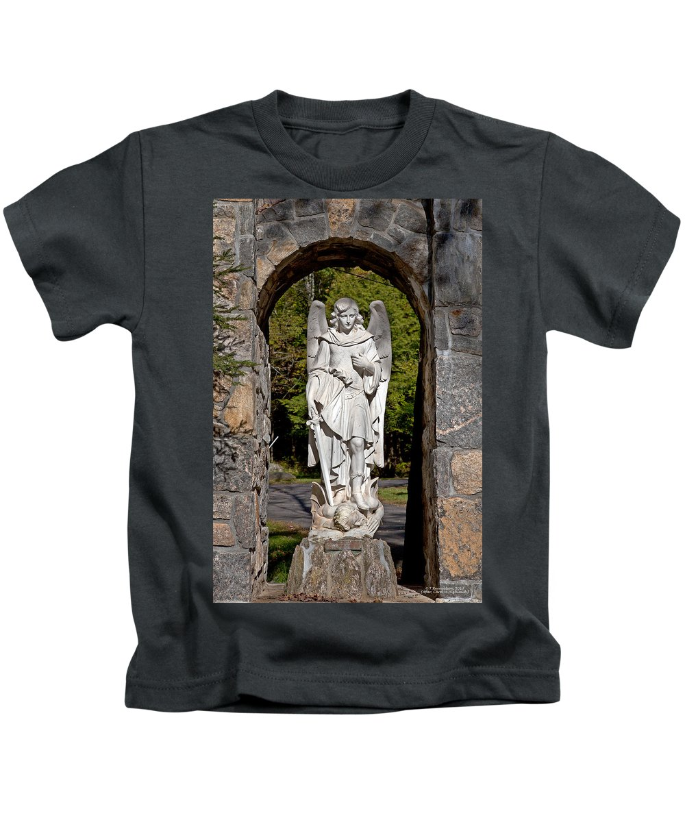 Angel Kids T-Shirt featuring the photograph Michael Defeats Lucifer by Terry Reynoldson