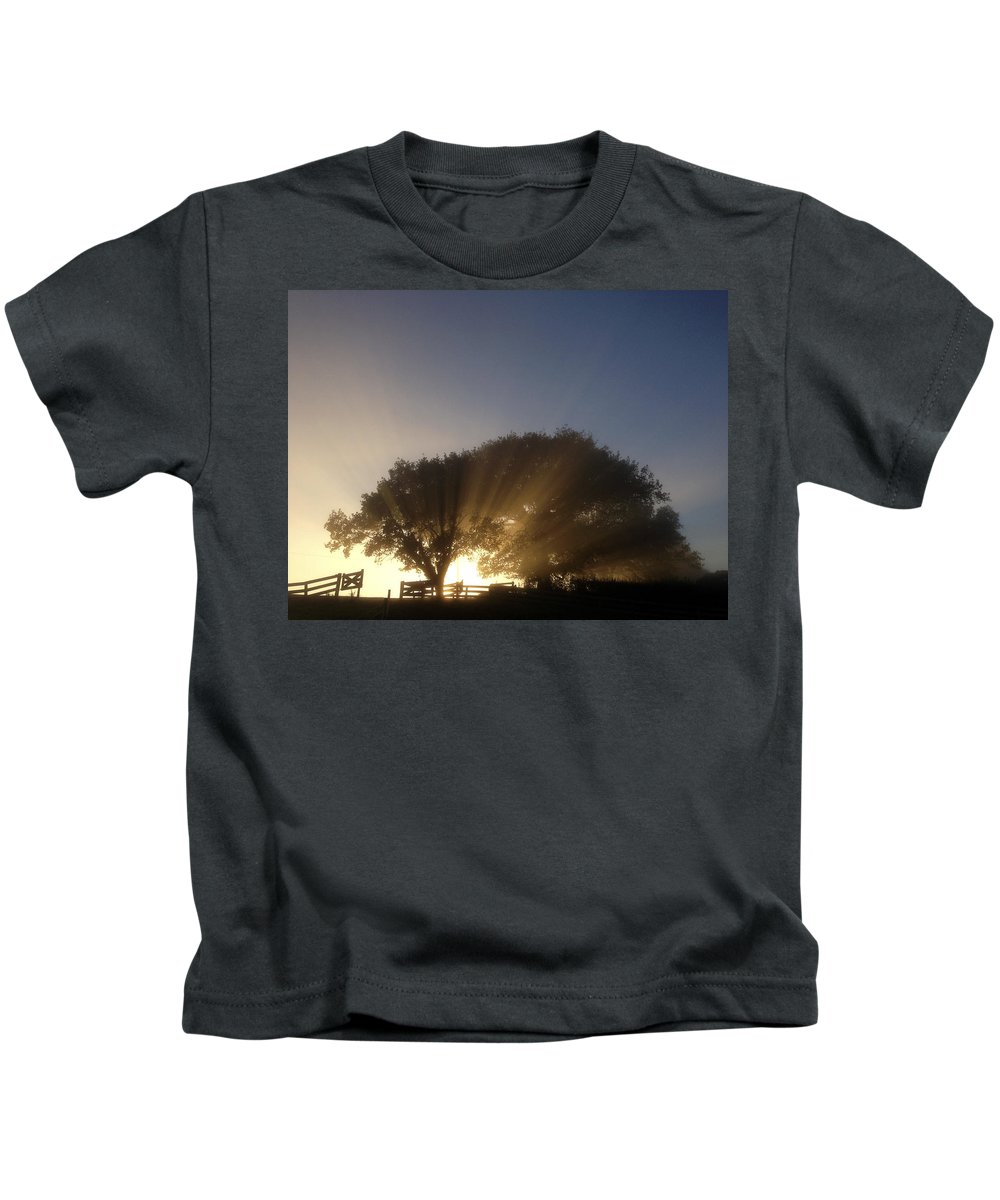 Forest Kids T-Shirt featuring the photograph New Beginning by Les Cunliffe