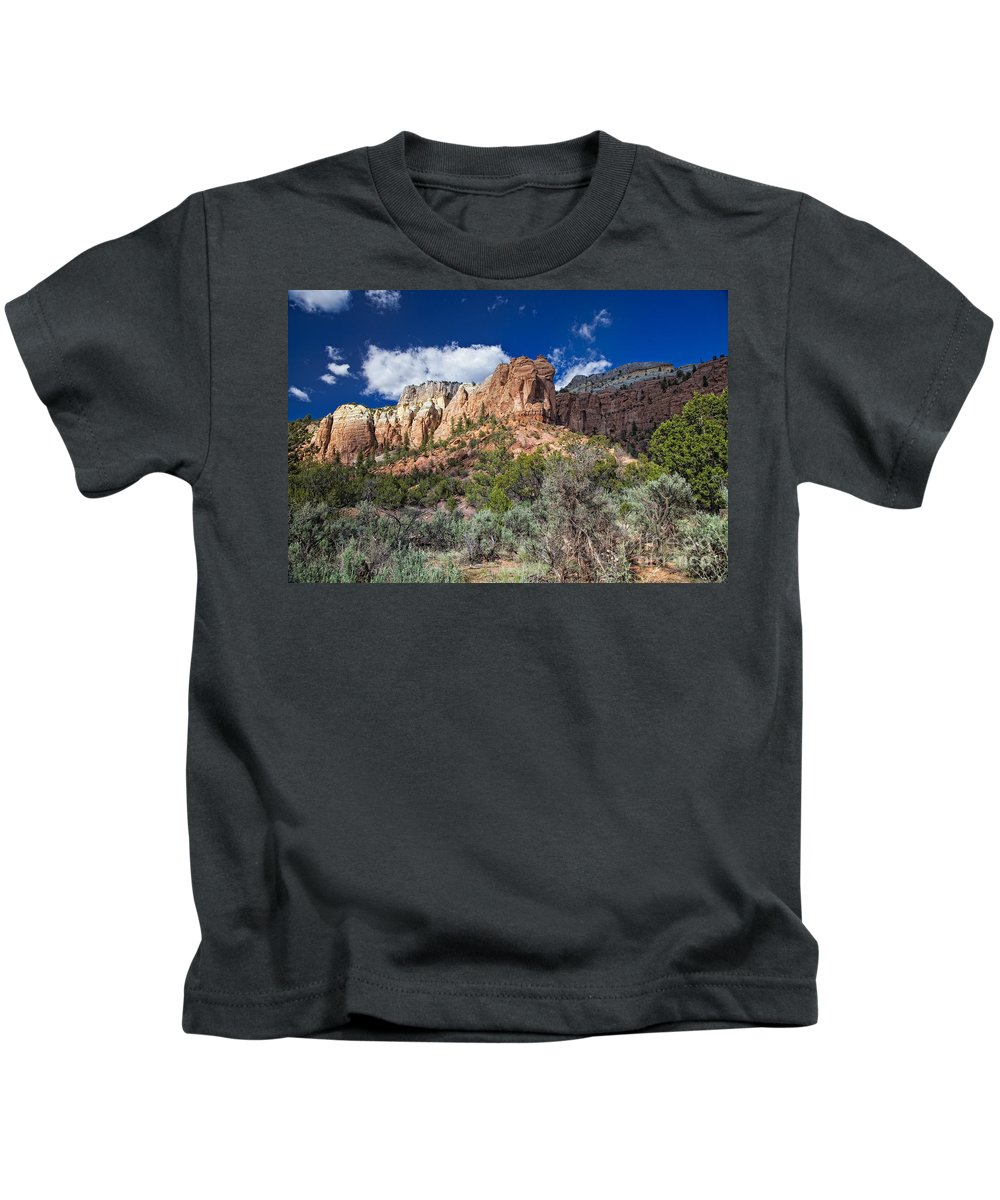 New Mexico Kids T-Shirt featuring the photograph New Mexico Landscape by Timothy Hacker
