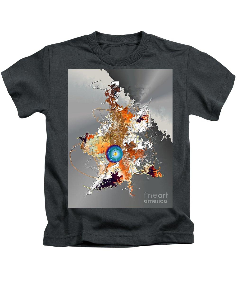 Kids T-Shirt featuring the digital art No. 793 by John Grieder