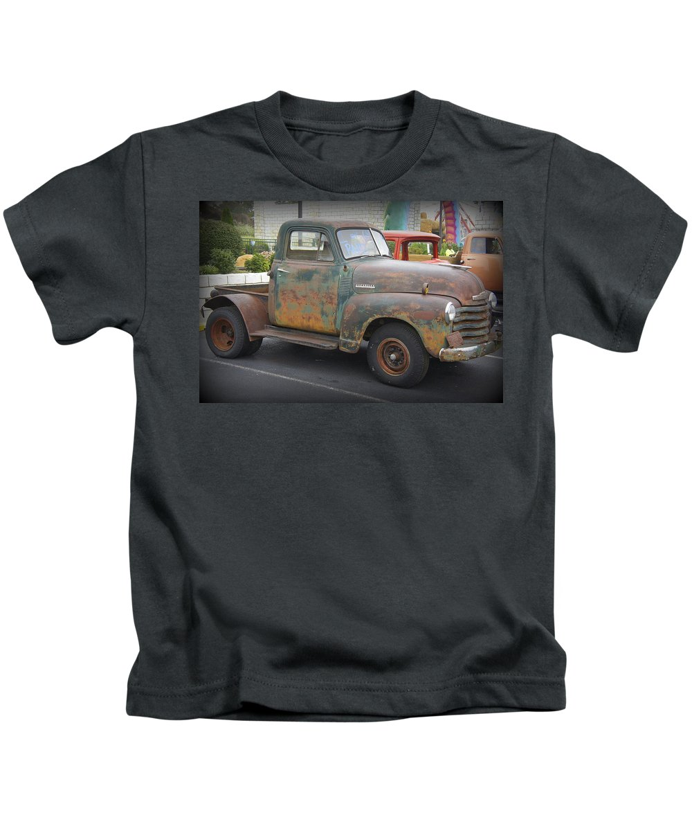 Chevy Truck Kids T-Shirt featuring the photograph 1 Of 64 by Laurie Perry