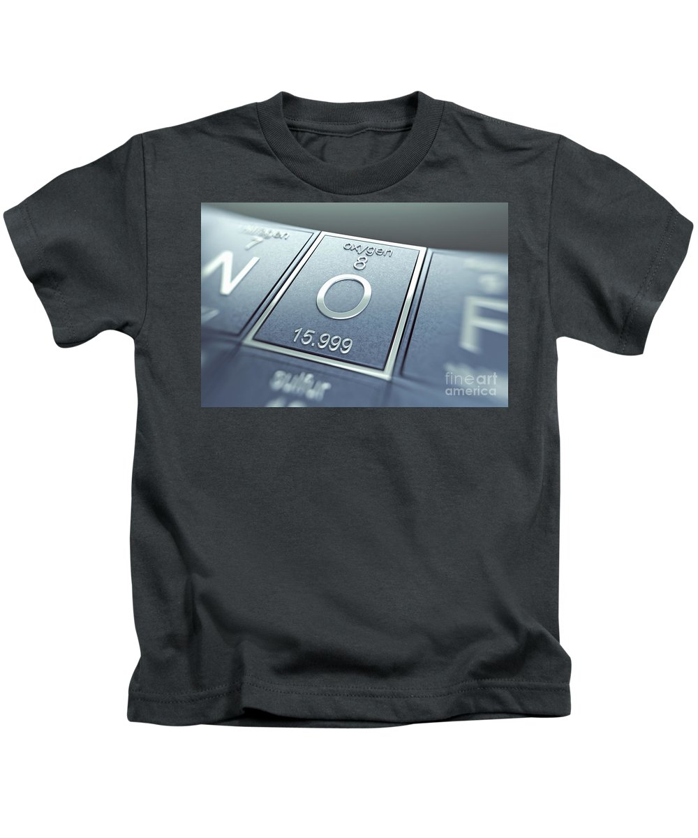 Atomic Number Kids T-Shirt featuring the photograph Oxygen Chemical Element by Science Picture Co