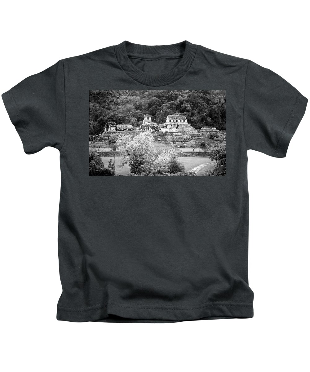 America Kids T-Shirt featuring the photograph Palenque City by Roy Pedersen