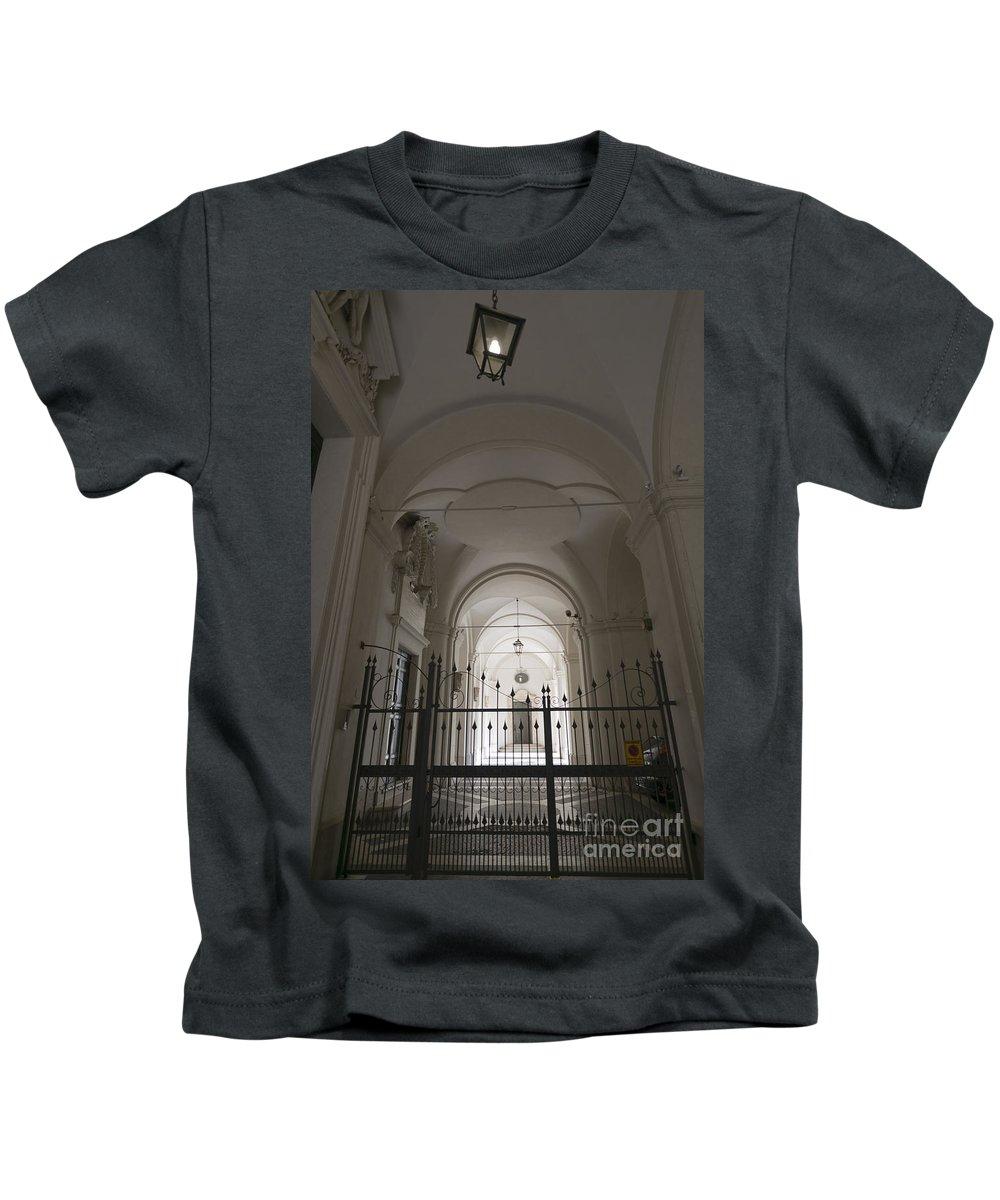 Gate Kids T-Shirt featuring the photograph Patio by Mats Silvan