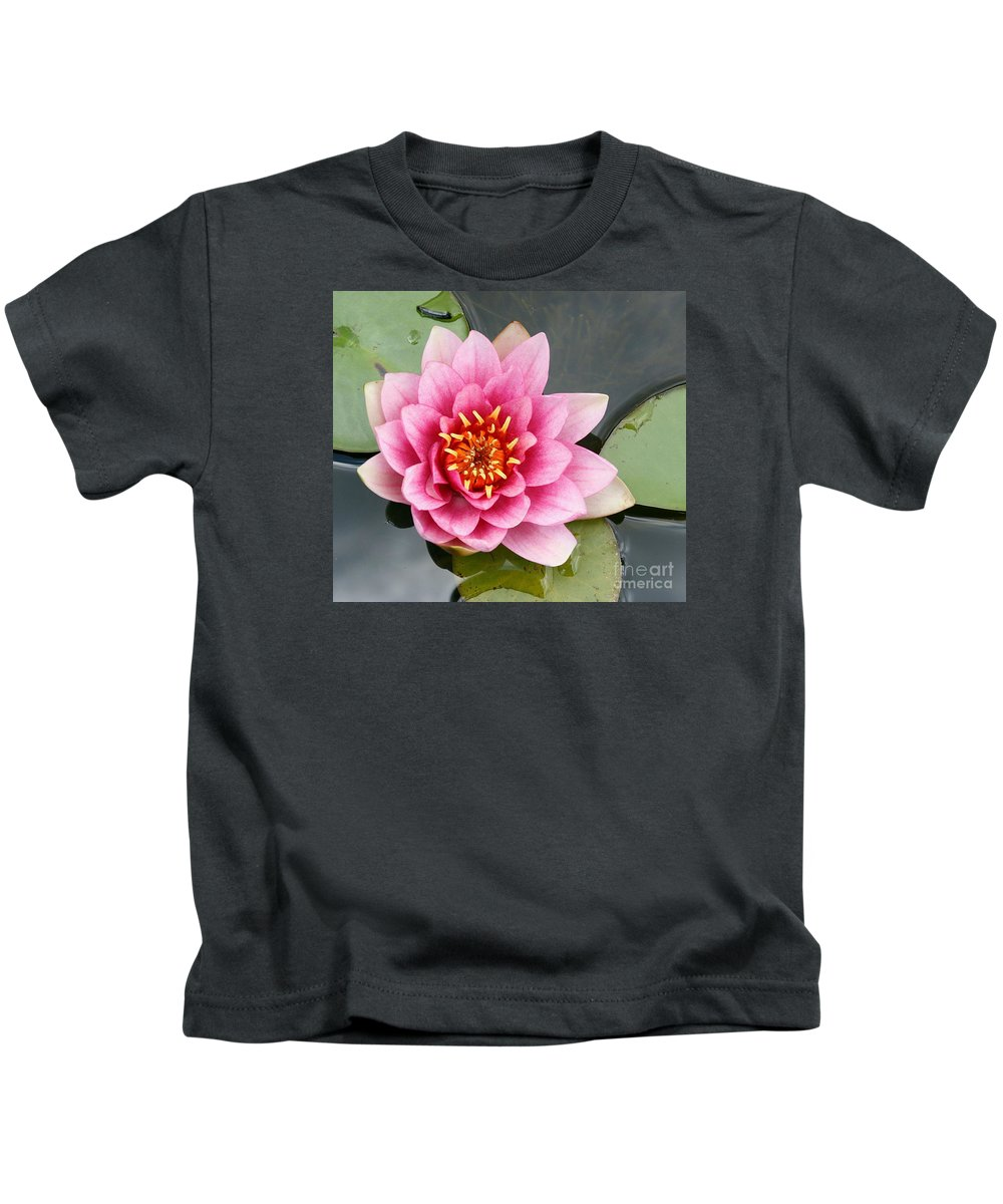Lily Kids T-Shirt featuring the photograph Pink Waterlily by Christiane Schulze Art And Photography