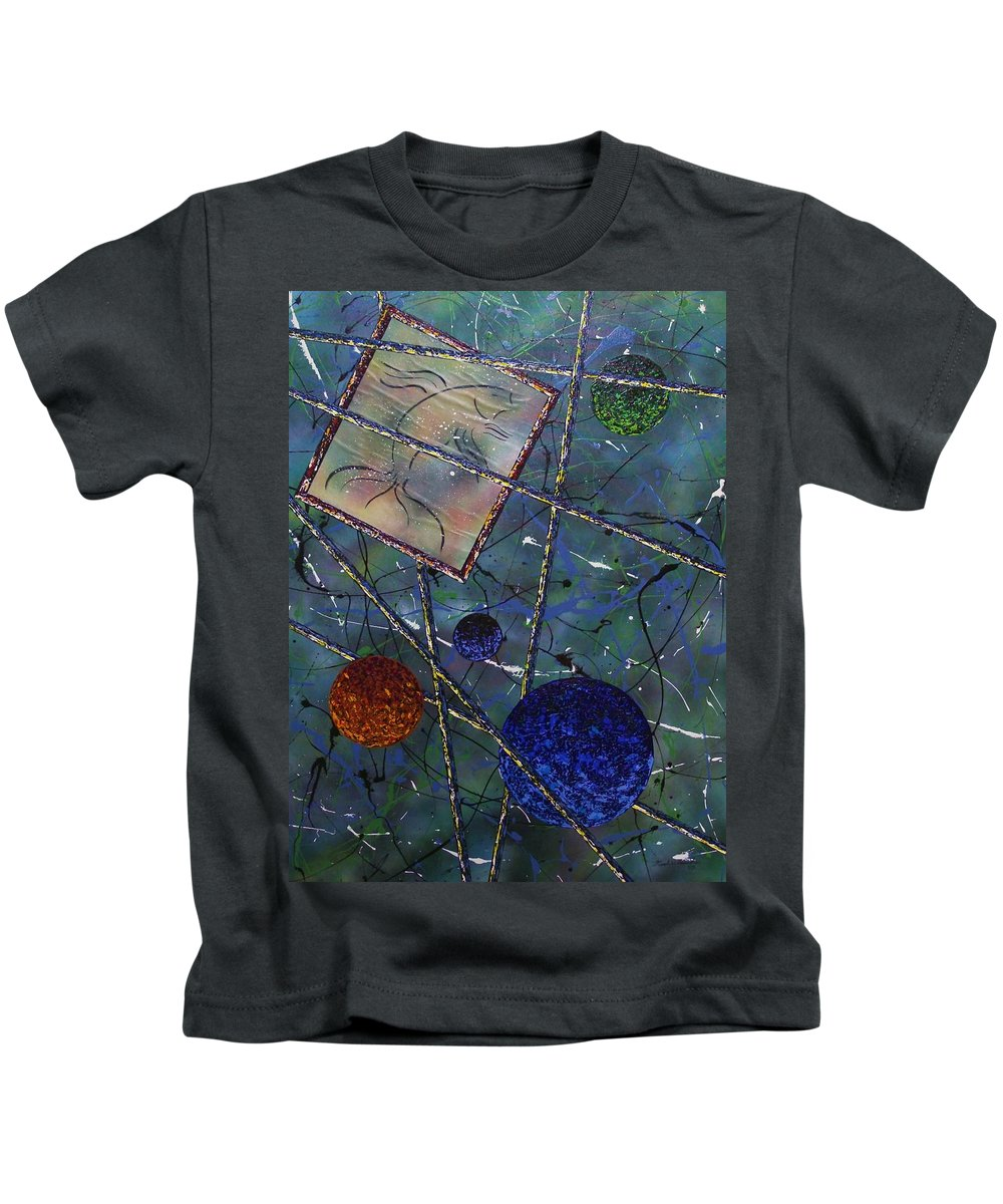 Fish Kids T-Shirt featuring the painting Pisces by Micah Guenther