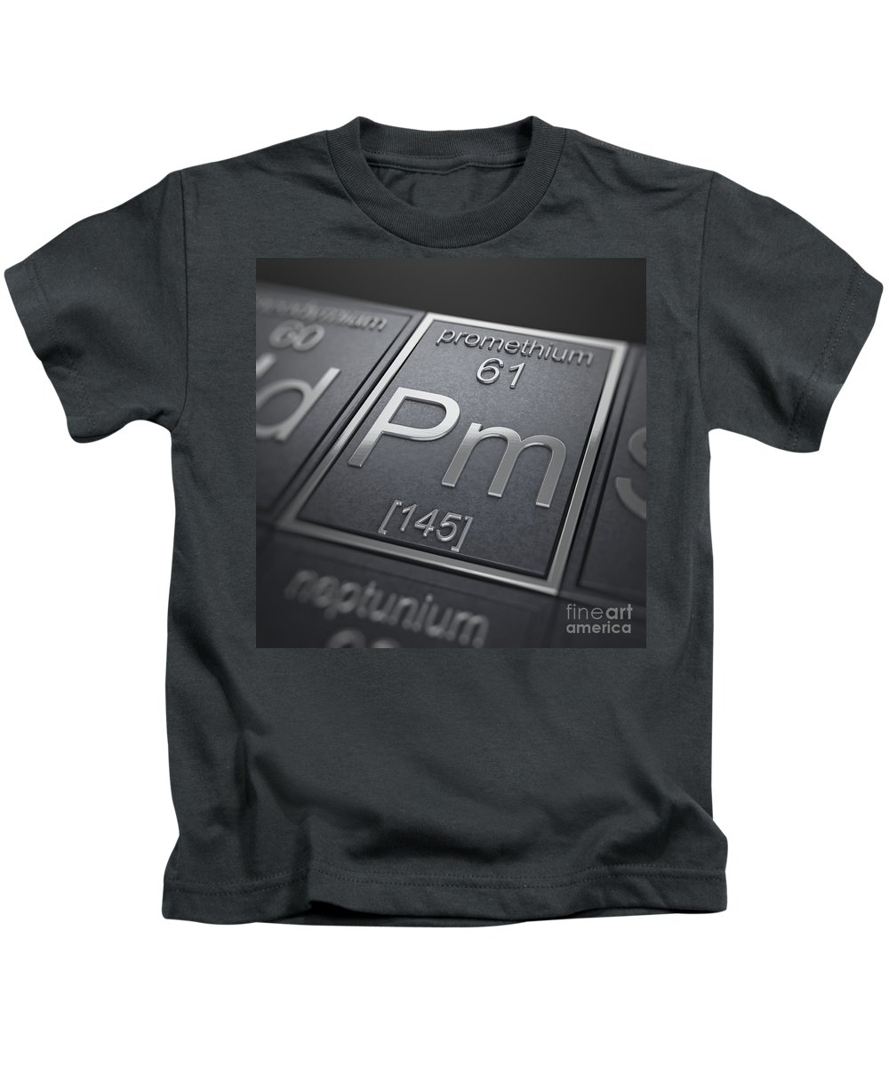 Promethium Kids T-Shirt featuring the photograph Promethium Chemical Element by Science Picture Co