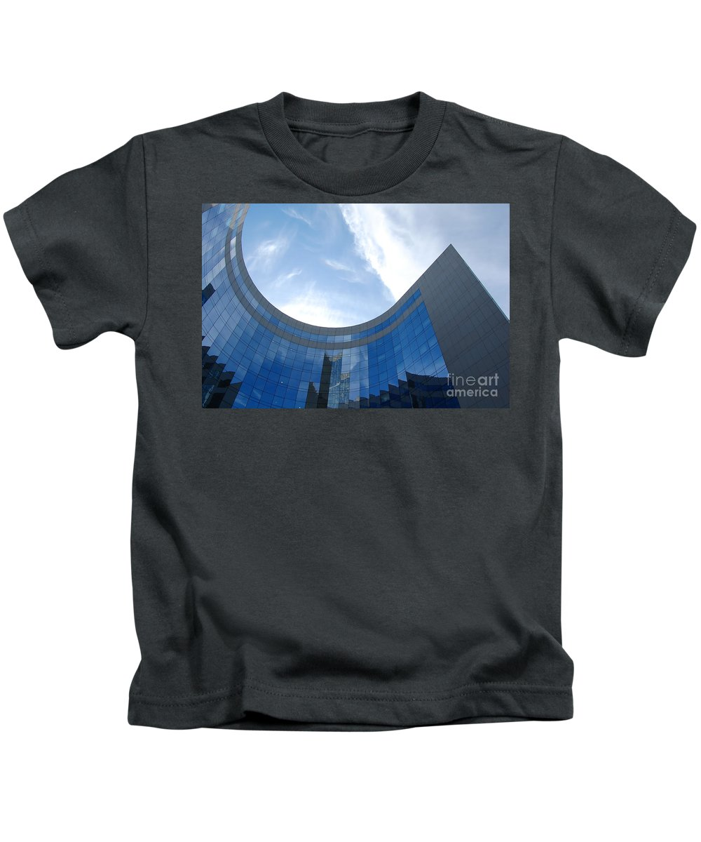 Architectural Kids T-Shirt featuring the photograph Skyscraper by Michal Bednarek