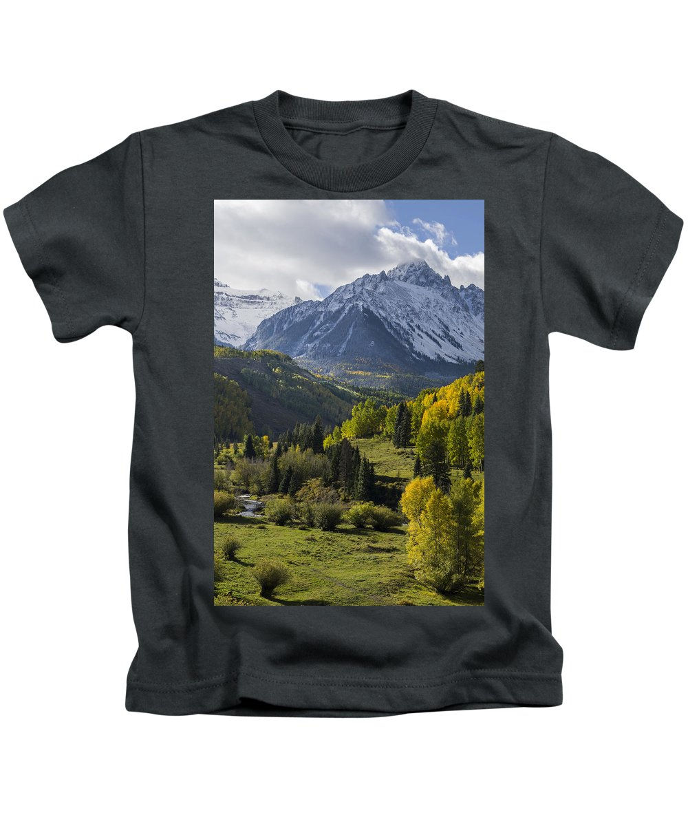 Colorado Photographs Kids T-Shirt featuring the photograph Sneffles by Gary Benson