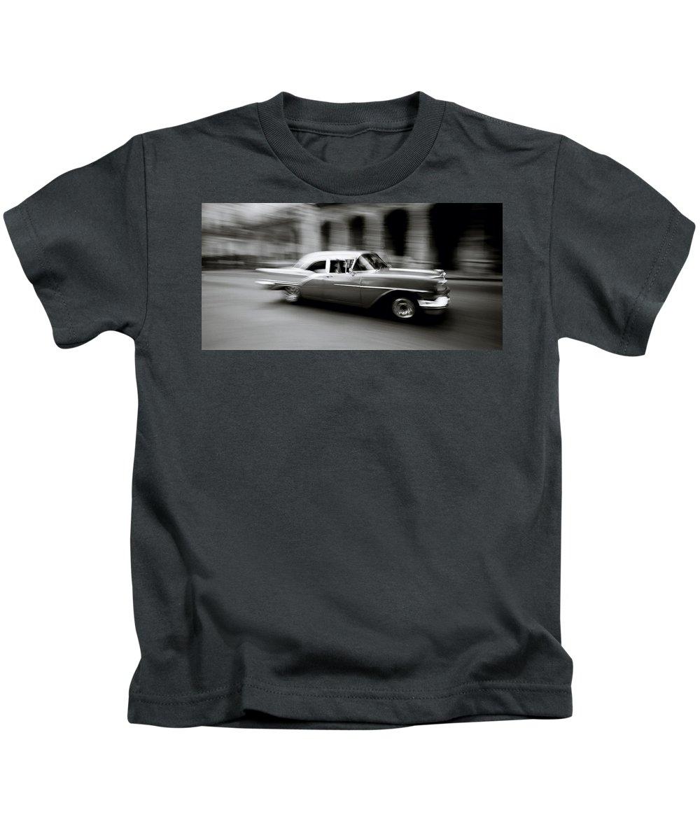 American Car Kids T-Shirt featuring the photograph The Zen Of Havana by Shaun Higson