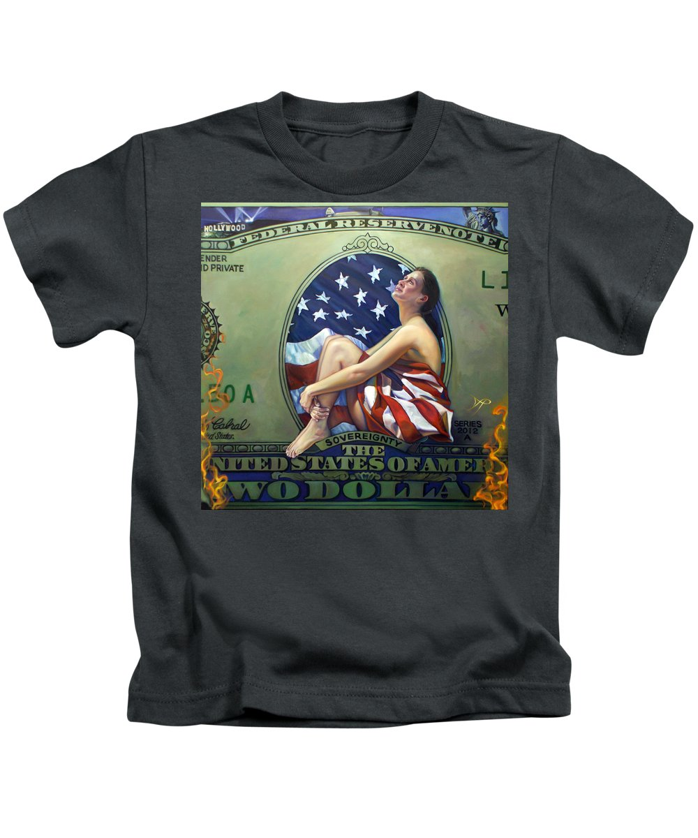 Jefferson Kids T-Shirt featuring the painting The Curse Of Freedom by Patrick Anthony Pierson