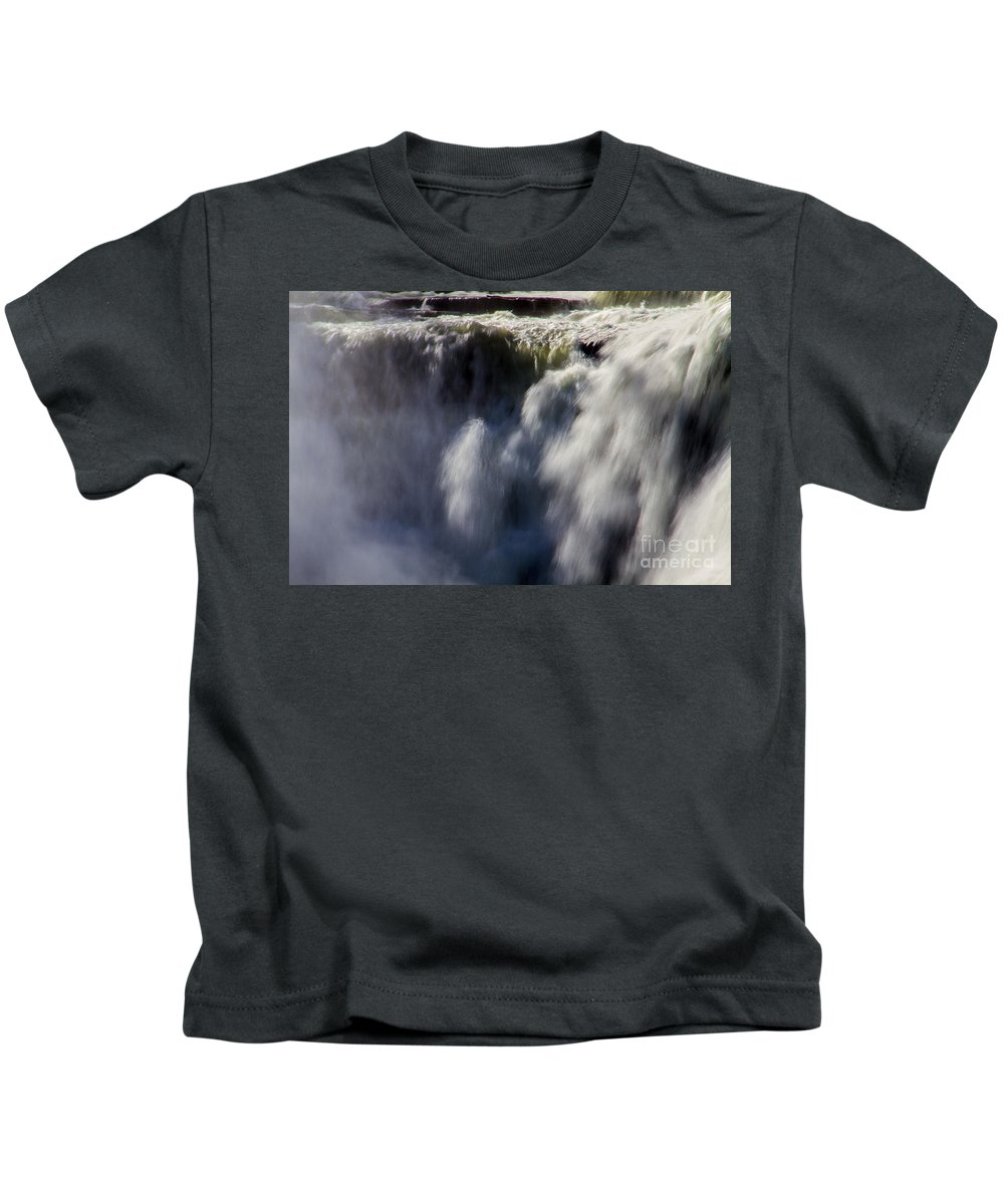 Letchworth Kids T-Shirt featuring the photograph The Falls by William Norton