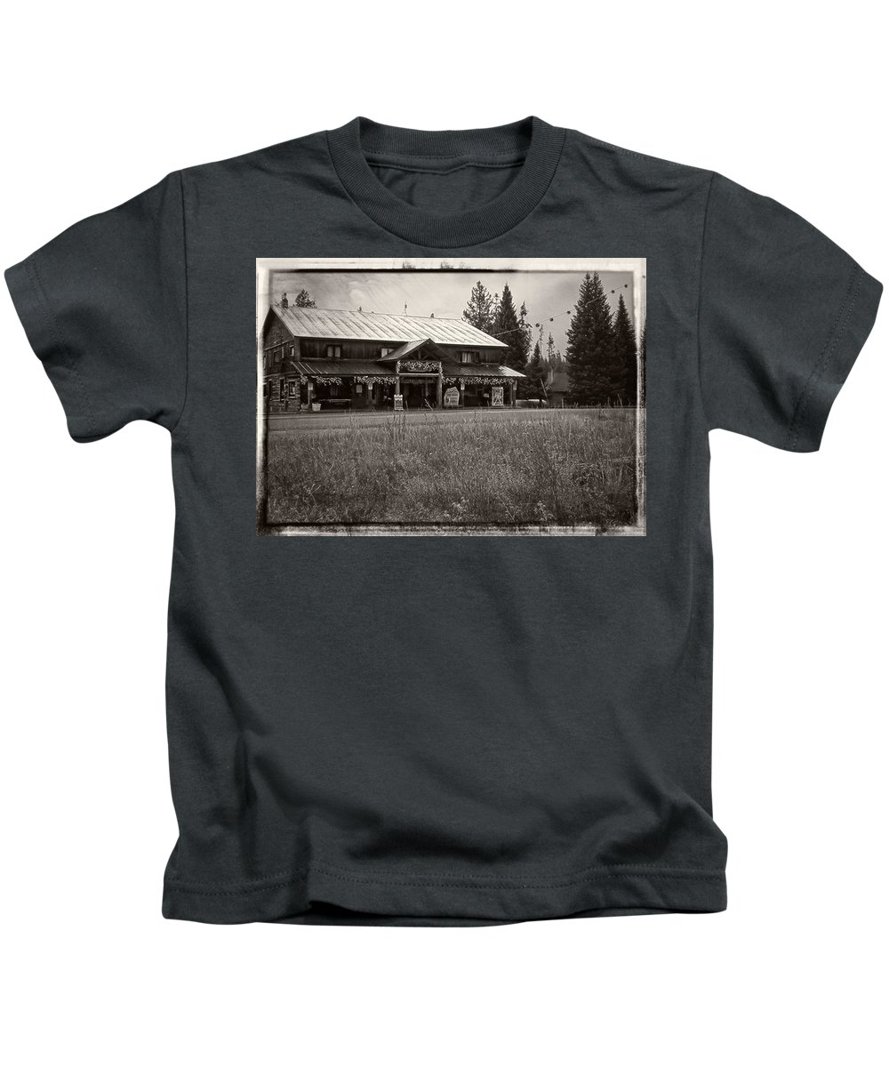 Island Park Kids T-Shirt featuring the photograph The Pines by Image Takers Photography LLC