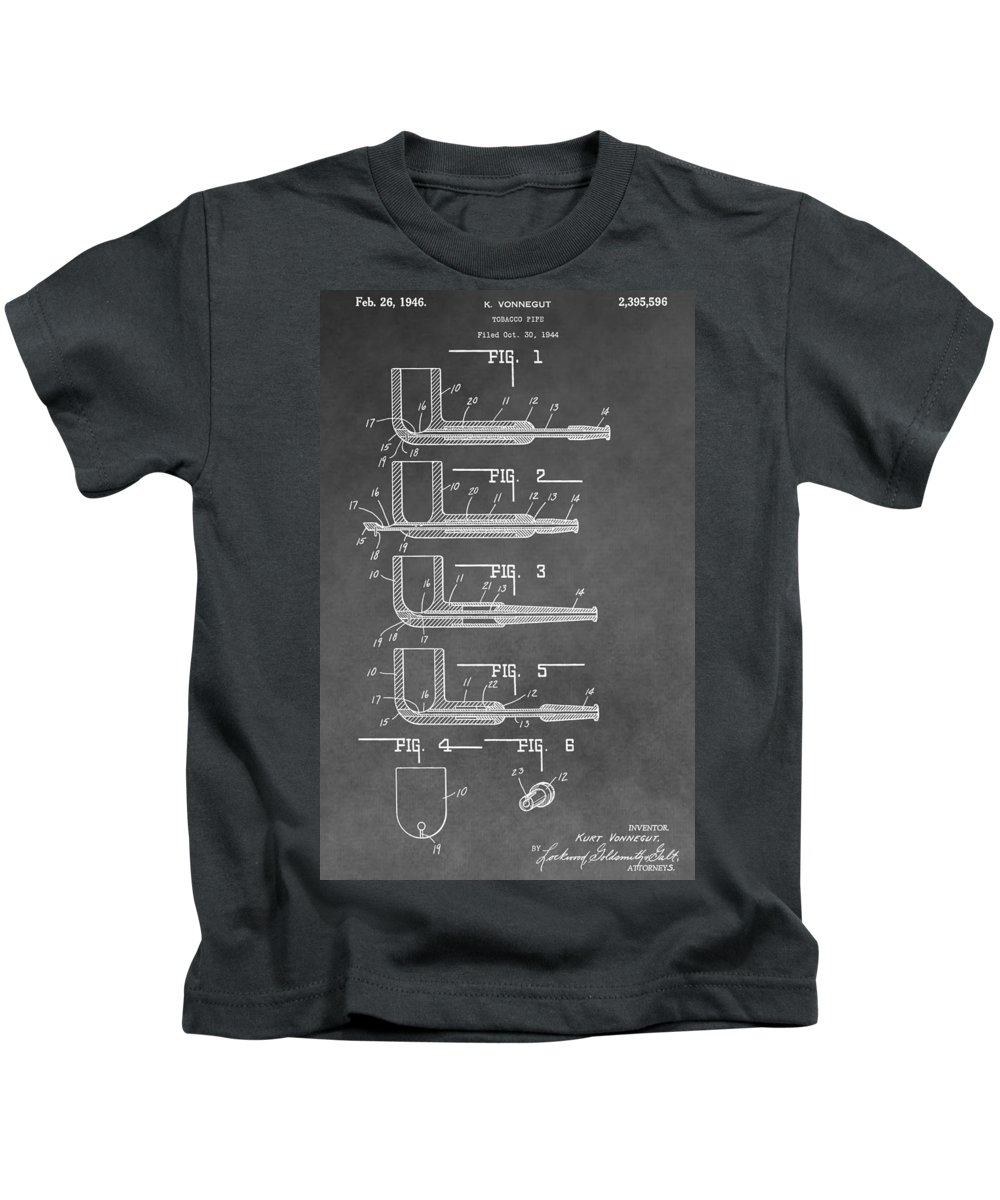Tobacco Pipe Patent Kids T-Shirt featuring the digital art Tobacco Pipe Patent by Dan Sproul