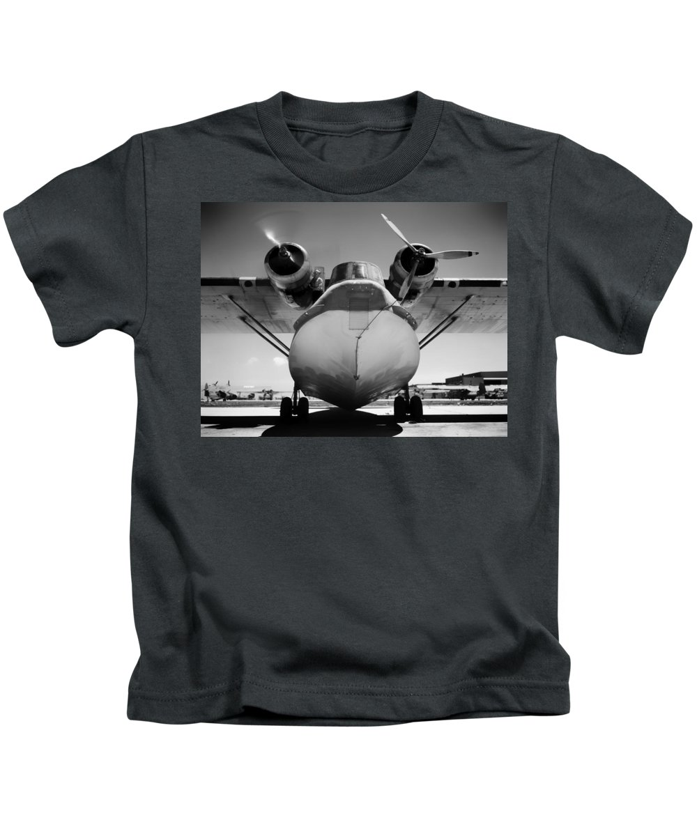 1942 Kids T-Shirt featuring the photograph United States Navy Pby Catalina 1942 by Mountain Dreams
