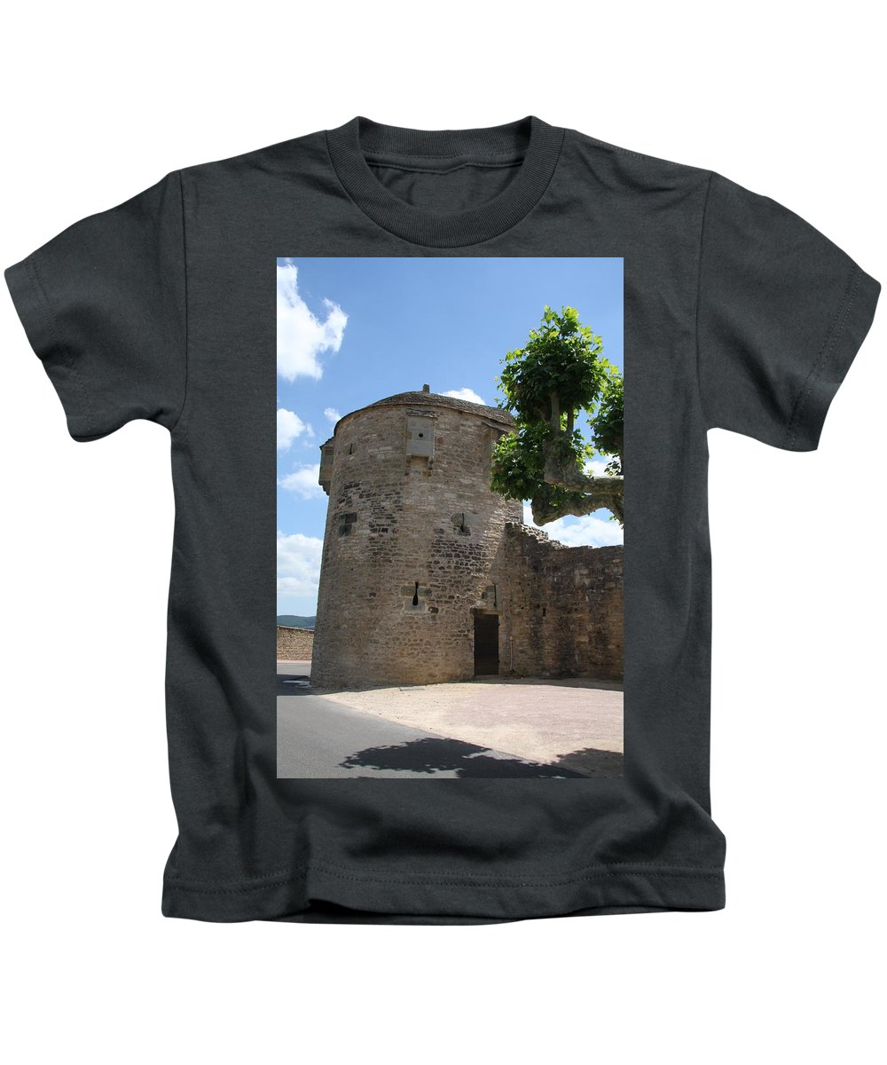 Watch Tower Kids T-Shirt featuring the photograph Watch Tower In Cluny by Christiane Schulze Art And Photography