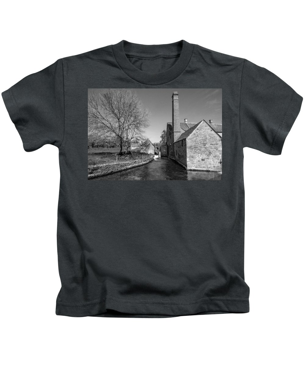 Cotswold Kids T-Shirt featuring the photograph Water Mill by Roy Pedersen