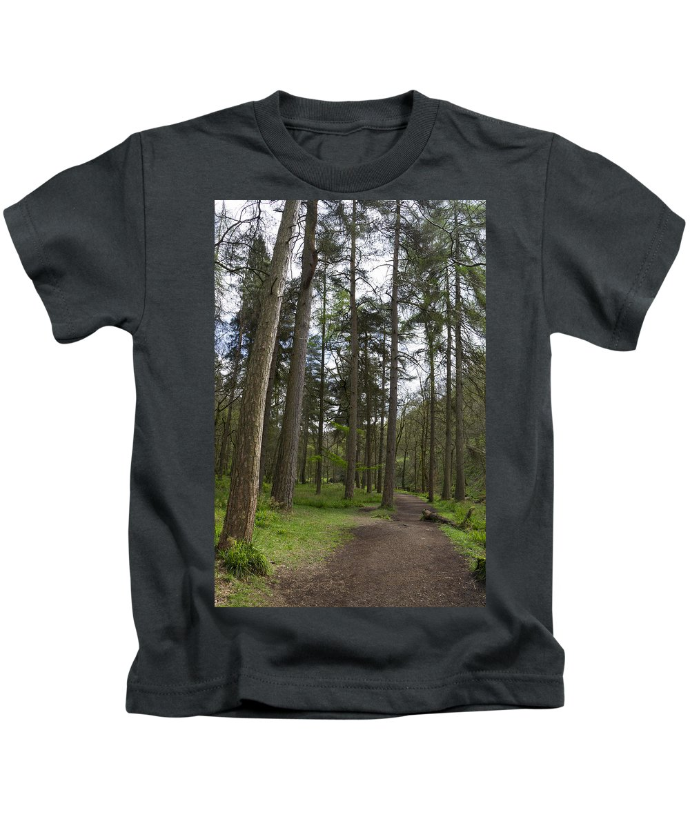 Path Kids T-Shirt featuring the photograph Woodland Path by Chris Smith