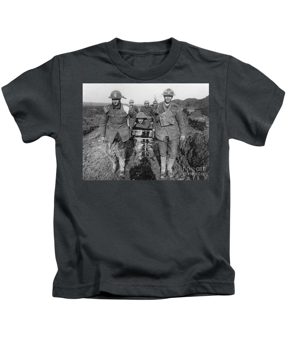 1910s Kids T-Shirt featuring the photograph World War I: Soldiers by Granger