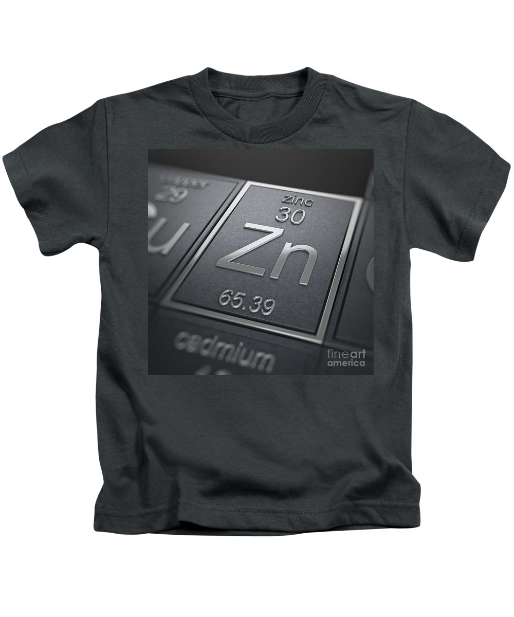 Zinc Kids T-Shirt featuring the photograph Zinc Chemical Element by Science Picture Co