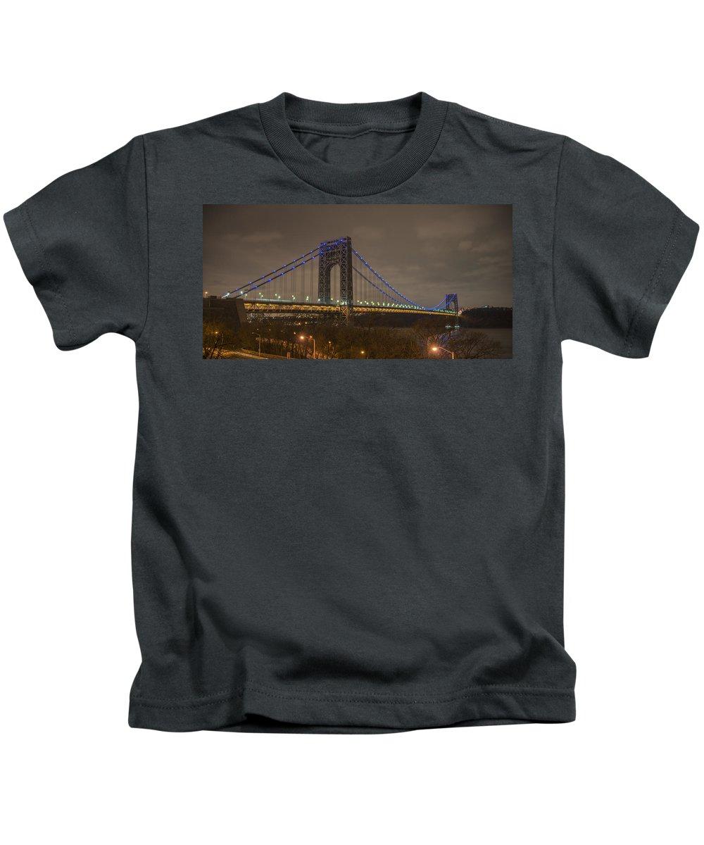 Gwb Kids T-Shirt featuring the photograph George Washington Bridge by Theodore Jones