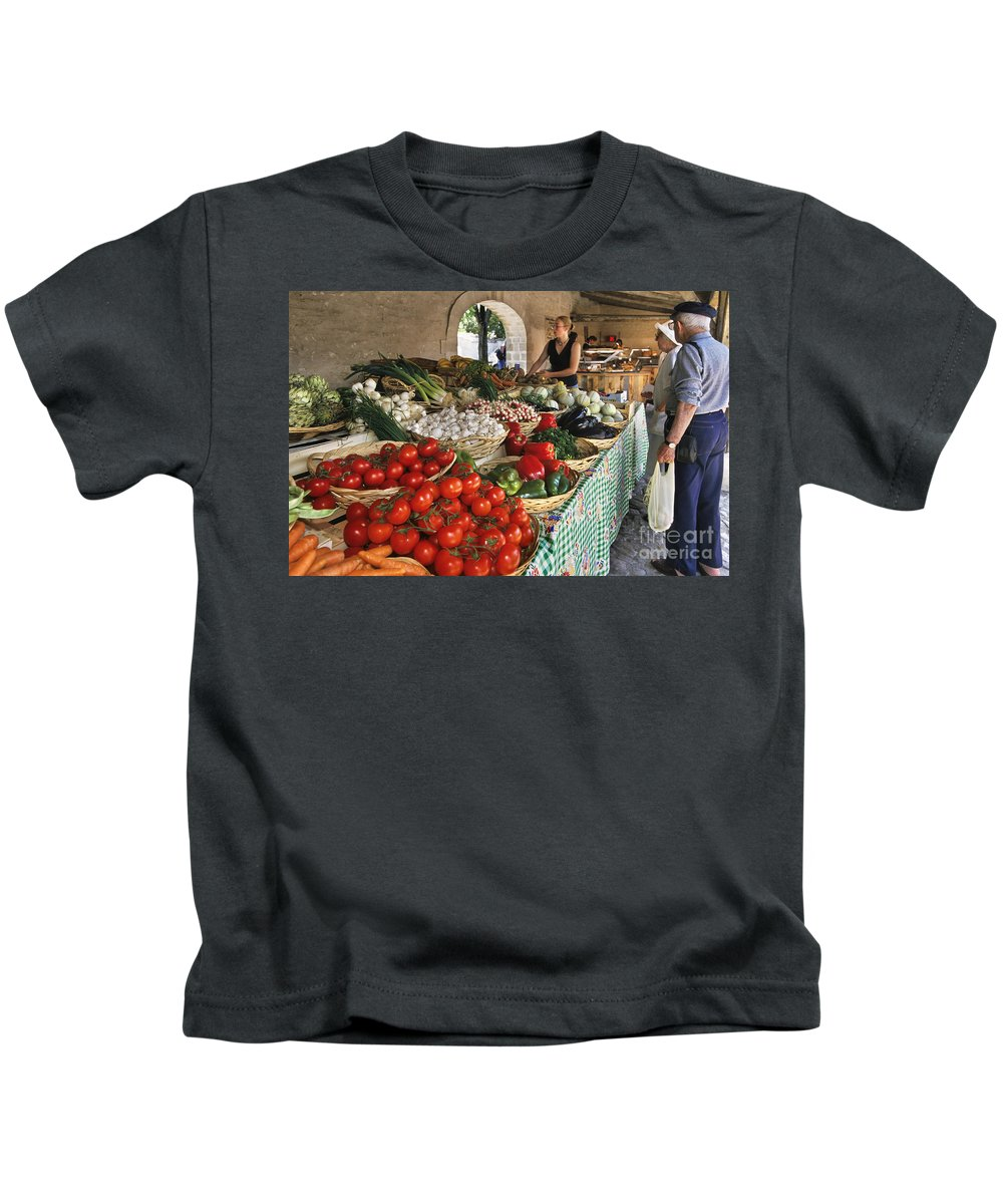 Vegetable Market Kids T-Shirt featuring the photograph 110307p163 by Arterra Picture Library