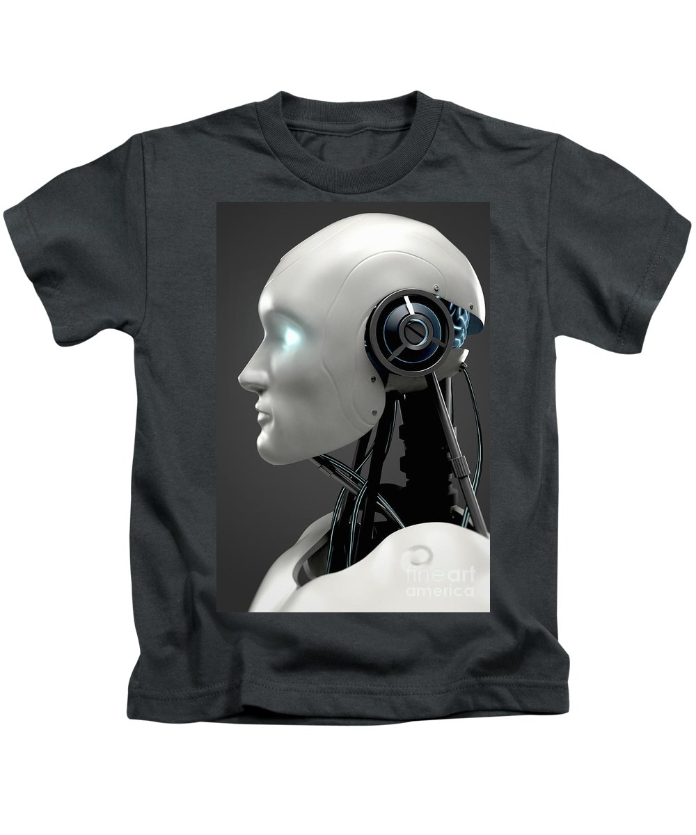 Close-up Kids T-Shirt featuring the photograph Android by Science Picture Co
