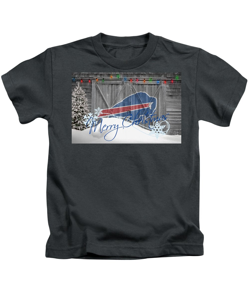 Bills Kids T-Shirt featuring the photograph Buffalo Bills by Joe Hamilton