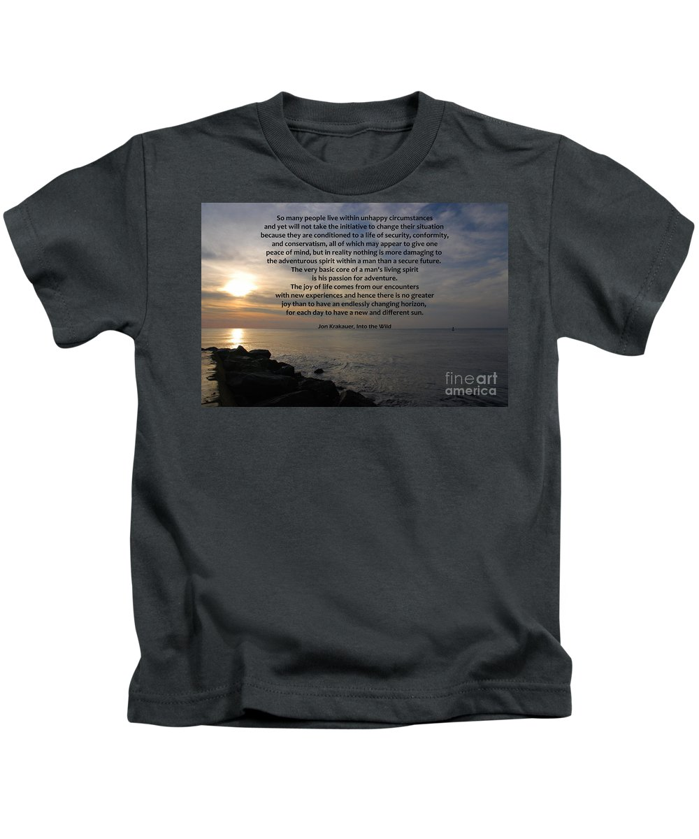 Into The Wild Kids T-Shirt featuring the photograph 172- Into The Wild by Joseph Keane