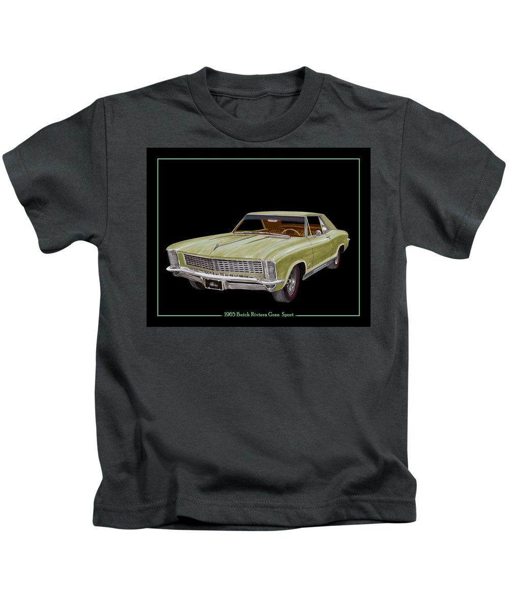 The 1965 Buick Riviera Gran Sport Option Kids T-Shirt featuring the painting 1965 Buick Riviera Gran Sport by Jack Pumphrey