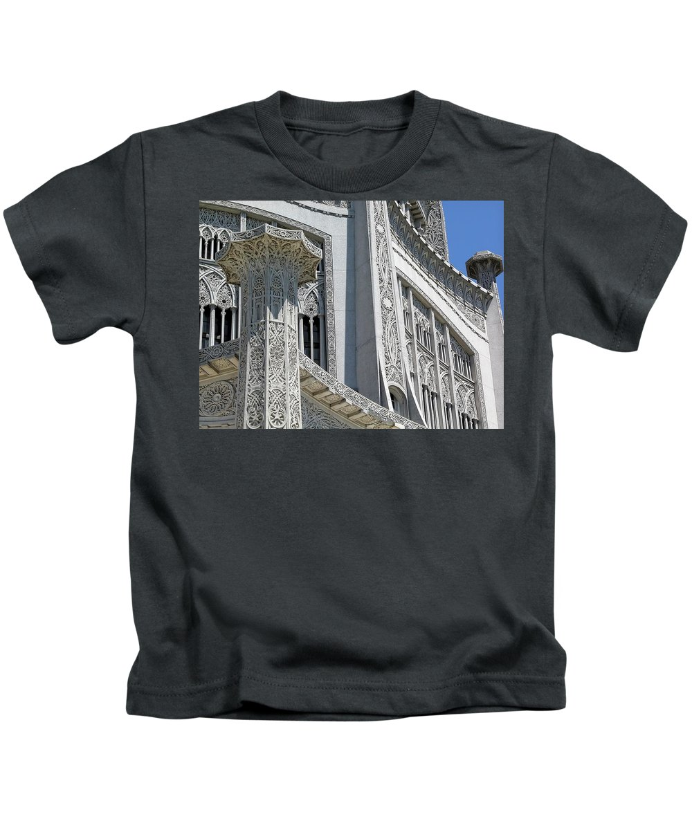 Architecture Kids T-Shirt featuring the photograph Bahai Temple Wilmette by Rudy Umans