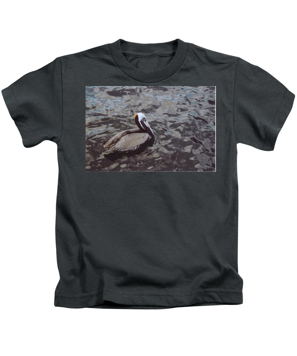 Matlacha Kids T-Shirt featuring the photograph Brown Pelican by Robert Floyd