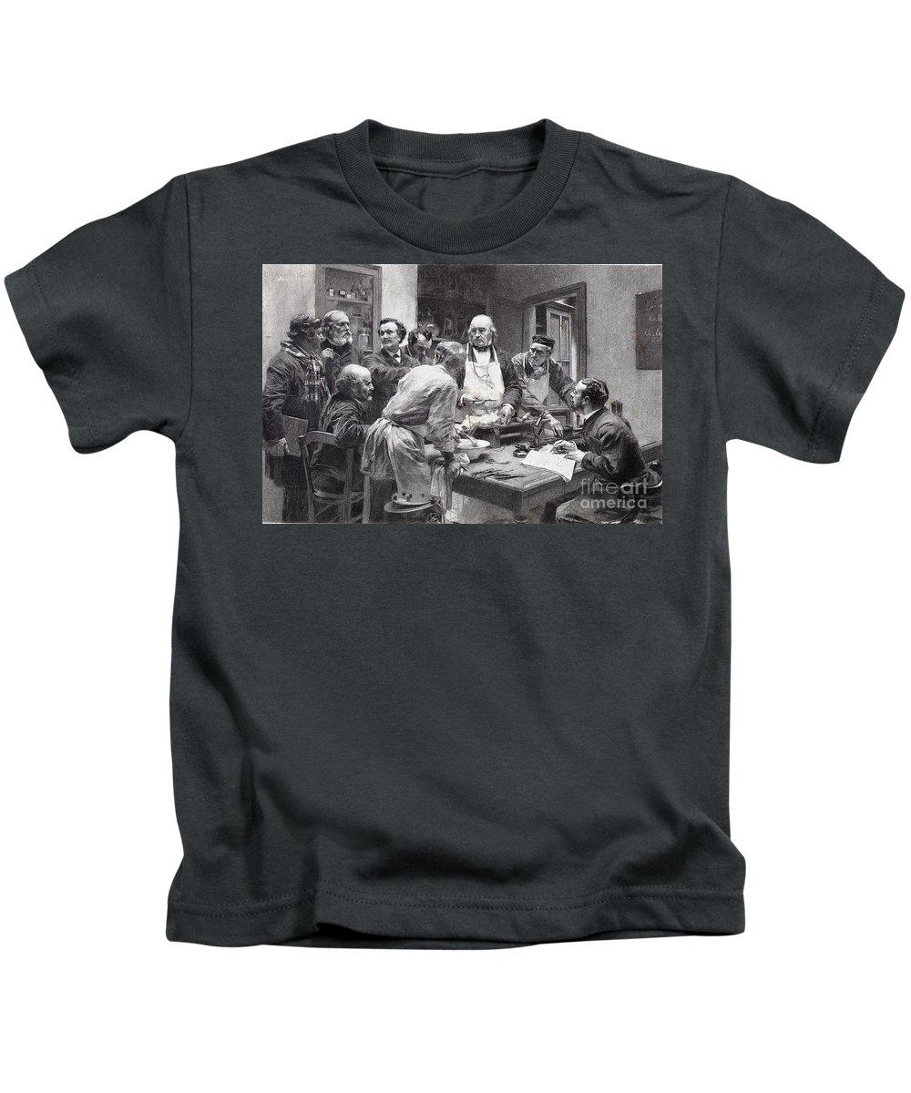 19th Century Kids T-Shirt featuring the photograph Claude Bernard (1813-1878) by Granger