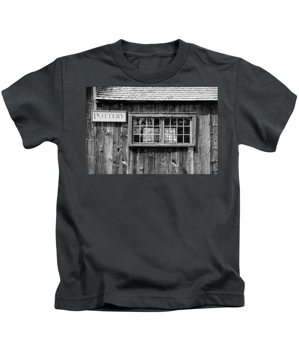 Guy Whiteley Photography Kids T-Shirt featuring the photograph Flint Hill Pottery by Guy Whiteley