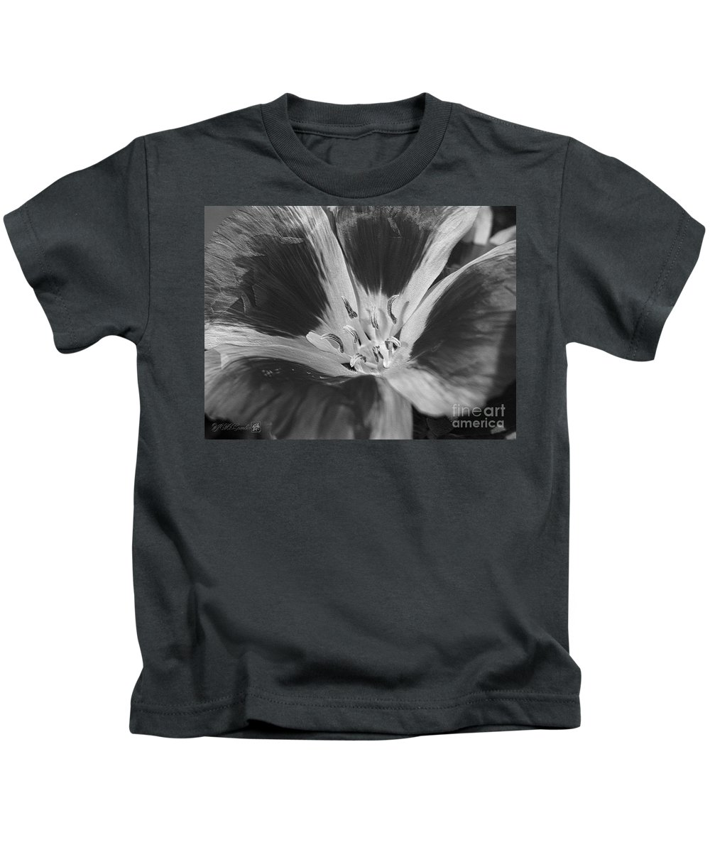 Mccombie Kids T-Shirt featuring the photograph Godetia Named Lilac Rose by J McCombie