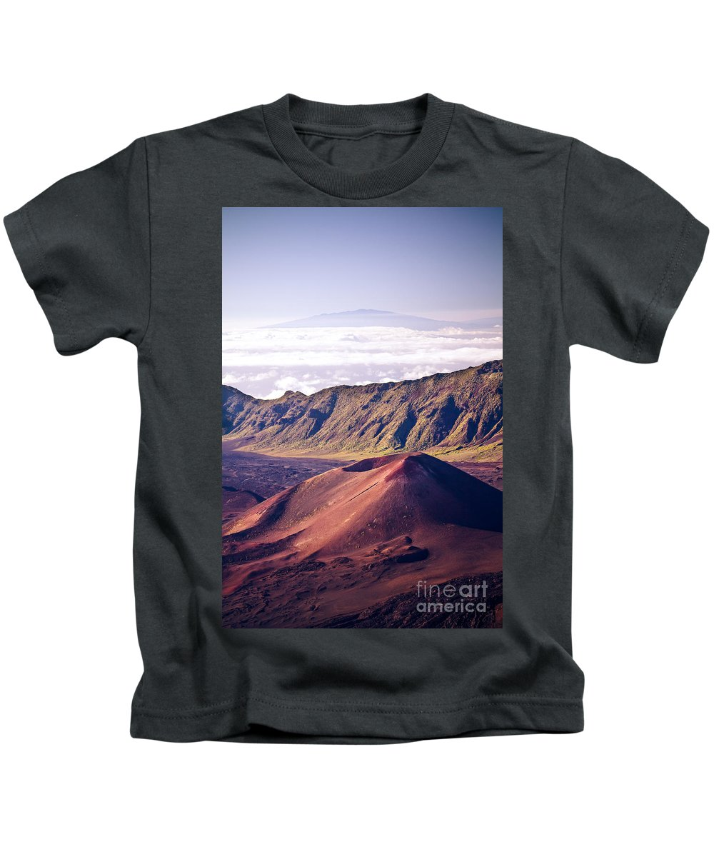 Haleakala Kids T-Shirt featuring the photograph Haleakala Sunrise On The Summit Maui Hawaii - Kalahaku Overlook by Sharon Mau
