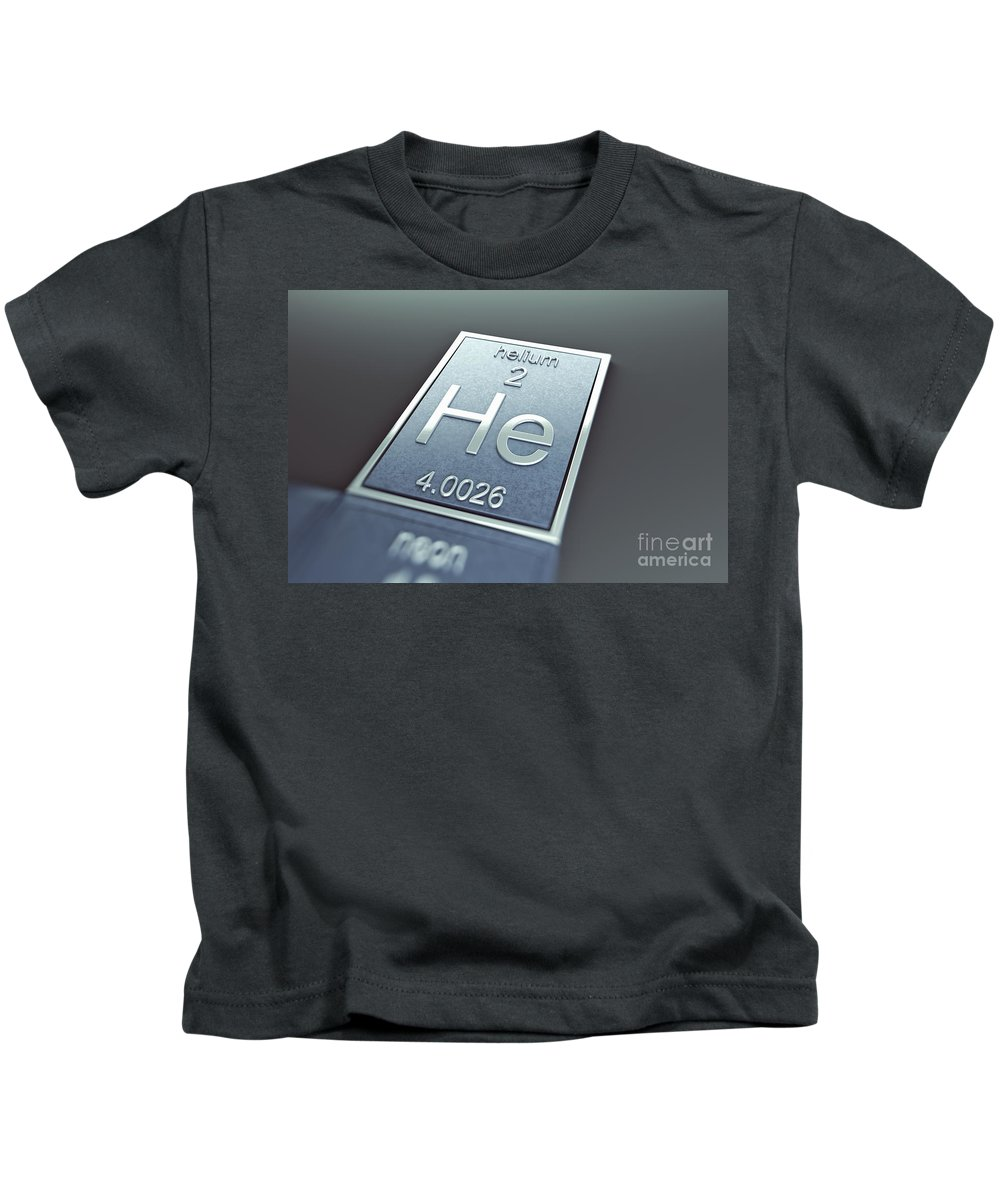 Atomic Number Kids T-Shirt featuring the photograph Helium Chemical Element by Science Picture Co